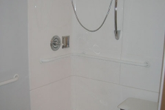 Cortland accessible shower, fold down shower bench