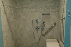Ithaca accessible bathroom, curbless shower