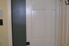 Ithaca accessible bathroom, pocket door