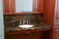 Skaneateles accessible bath, wheelchair accessible sink