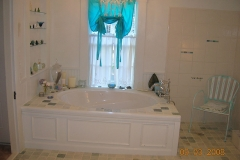 Accessible bathroom, whirlpool tub, roll in shower