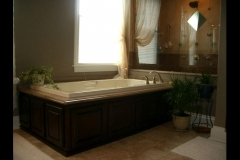 Completed bathroom tub