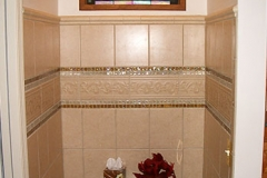 Bathroom with tile accents