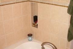 Bathroom, tile accents tub surround