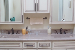 Master bathroom, double sink vanity