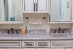 Master bathroom, double sink vanity