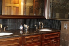 Master bathroom, double sink