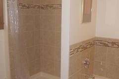 Porcelain tile shower