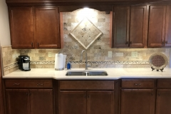Brookshire display tile backsplash
