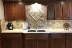 Brookshire display tile backsplash
