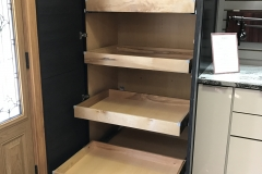 Derazi display pull out shelves