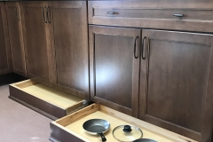 MasterBrand base cabinet with toe kick drawer