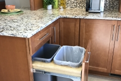 MasterBrand base cabinet with trash pullout