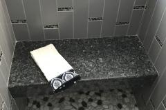 Custom tiled shower with bench