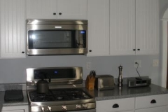 Classic white kitchen with Stainless appliances